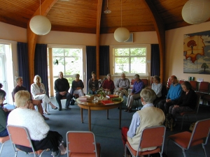 A gathered meeting: A Quaker Meeting in progress